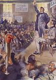 A Political Meeting in Lower Canada