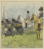 L'Empereur contemple ses conscrits a la bataille