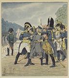 Le general Rapp fait arreter, par un gendarme, Stabs qui voulait assassiner l'Empereur