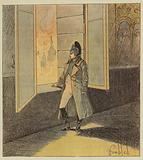 Napoleon contemple l'incendie de Moscou