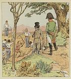 Napoleon examine les fortifications que le Gouverneur fait elever autour de Longwood