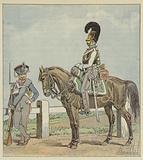 Infanterie de ligne prussienne (42e reg) et cuirassier prussien (1806)