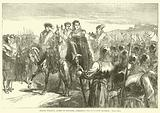 Jeanne d'Albret, Queen of Navarre, addressing the Huguenot Soldiers