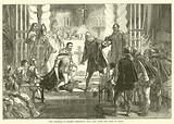 The Marshal of Poland demanding the Oath from the Duke of Anjou