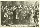 Mary Queen of Scots entering Holyrood