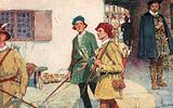 Shakespeare see a party of apprentices with their bows and arrows going to the archery ground at Moorfields, London