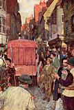 Shakespeare sees a traffic block in the streets and hears that the House of Lords is considering …