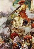 """""""Tipu himself stood firing coolly at his advancing foes"""""""