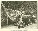 Old Viking ship disinterred at Gokstad