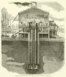 Travaux du pont du Rhin, Fondation des piles