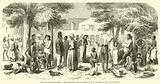 Guyane Hollandaise, Distribution de vetements aux negres d'une plantation
