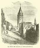 La tour de Galata a Constantinople