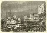 Voyage de SM l'Imperatrice, Venise, La serenade sur le grand canal