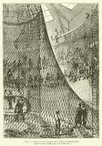 Confection du filet du ballon captif a vapeur de M Henri Giffard, Corderie centrale de MM Fretet et Ce, a Vincennes