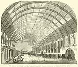 The Great Northern Railway Terminus, King's Cross, interior of the departure shed