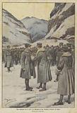 Una cerimonia fra le nevi, la consegna di due medaglie d'argento al valore