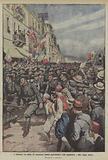 A Salonicco, La sfilata dei contingenti italiani ammiratissimi dalla popolazione e dalle truppe alleate