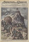 Nella zona di Fassa (Avisio), dopo lotta accanita, gli alpini occuparono l'aspra cima del Cauriol …