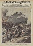 Le nuove armi degli Alleati, una dreadnought terrestre inglese sulle posizioni tedesche