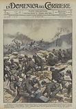 Di giorno e di notte il Comando austriaco getto contro la nuova linea italiana, che era appena …