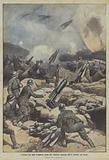 L'intenso tiro delle bombarde prima dei vittoriosi attacchi dell'11 ottobre, sul Carso