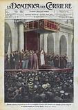 Solenne udienza concessa da Pio XI nell'immenso cortile di San Damaso ad ottomila operai lombardi …