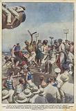Il Duca di York al passaggio dell'Equatore, durante il suo viaggio verso l'Australia, a bordo del Renown