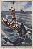 Una battaglia con uno squalo