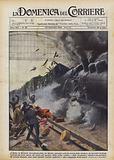 A Saitz, in Moravia (Cecoslovacchia), un diretto, entrando sotto la tettoia della stazione …