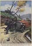 Sulla strada Intra-Cannobio-Locarno un'automobile svizzera, sbucata improvvisamente da una curva …