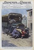 Presso Genazzano (Roma), una bimba staccatasi all'improvviso dalla madre per attraversare …