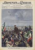 Il trionfale arrivo degli aviatori italiani, capitanati dal ministro Italo Balbo, a Porto Natal …