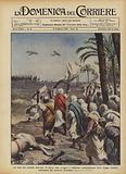 La resa dei notabili dell'oasi di Cufra dopo l'aspro e vittorioso combattimento delle truppe …