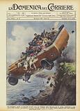 Un torpedone, carico di fanciulli diretti verso un villaggio della Renania per la prima comunione …
