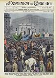 Migliaia di disoccupati, giunti a Londra dalla provincia, hanno sfilato per le vie della capitale …
