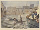 A dramatic rescue on the Seine