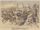 A French detatchment attacking Moroccan bandits on the Algerian-Moroccan frontier