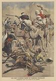French soldiers battling the Tuaregs in the Sahara