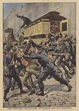 Apaches attacking a prison van in Paris