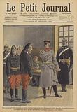 A German general giving two French Army deserters a lesson in patriotism