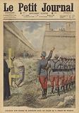 Execution of a participant in the uprisings in Barcelona in July 1909 in Monjuich Prison