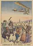 The aeroplane of Le Petit Journal in Morocco