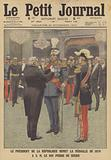 The President of France awarding the Franco-Prussian War Medal to King Peter I of Serbia