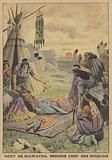 Death of Hiawatha, last chief of the Iroquois