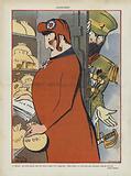 Satire on the Franco-Russian alliance. Illustration for Le Rire