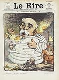 President Bibendum. Illustration for Le Rire.
