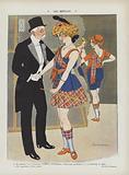 Old Scotland. Illustration for Le Rire.