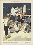 Franco-English match. Illustration for Le Rire.