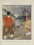 A souvenir of Volendam. Illustration for Le Rire
