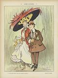 Autumn rains. Illustration for Le Rire